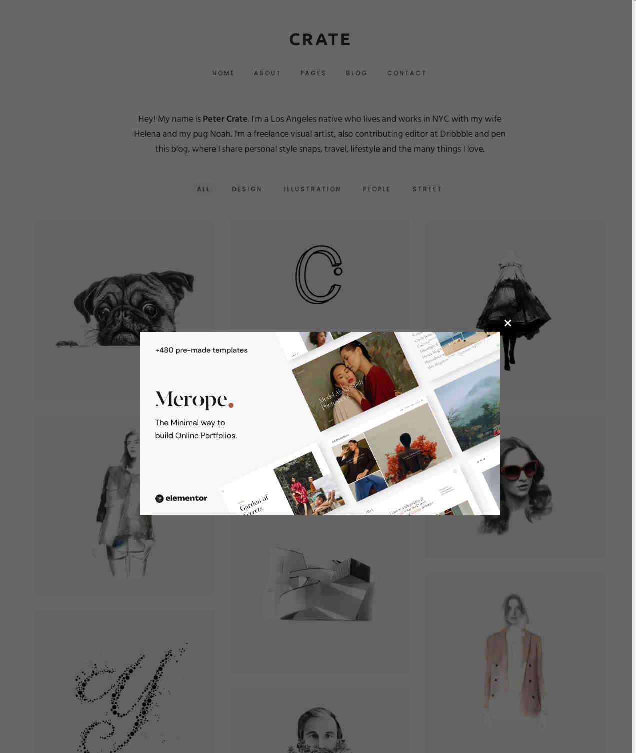 Crate  Minimalist WordPress Theme Free Premium WordPress Themes