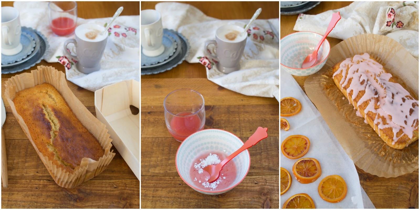 Loaf cake de buttermilk y naranja sanguina