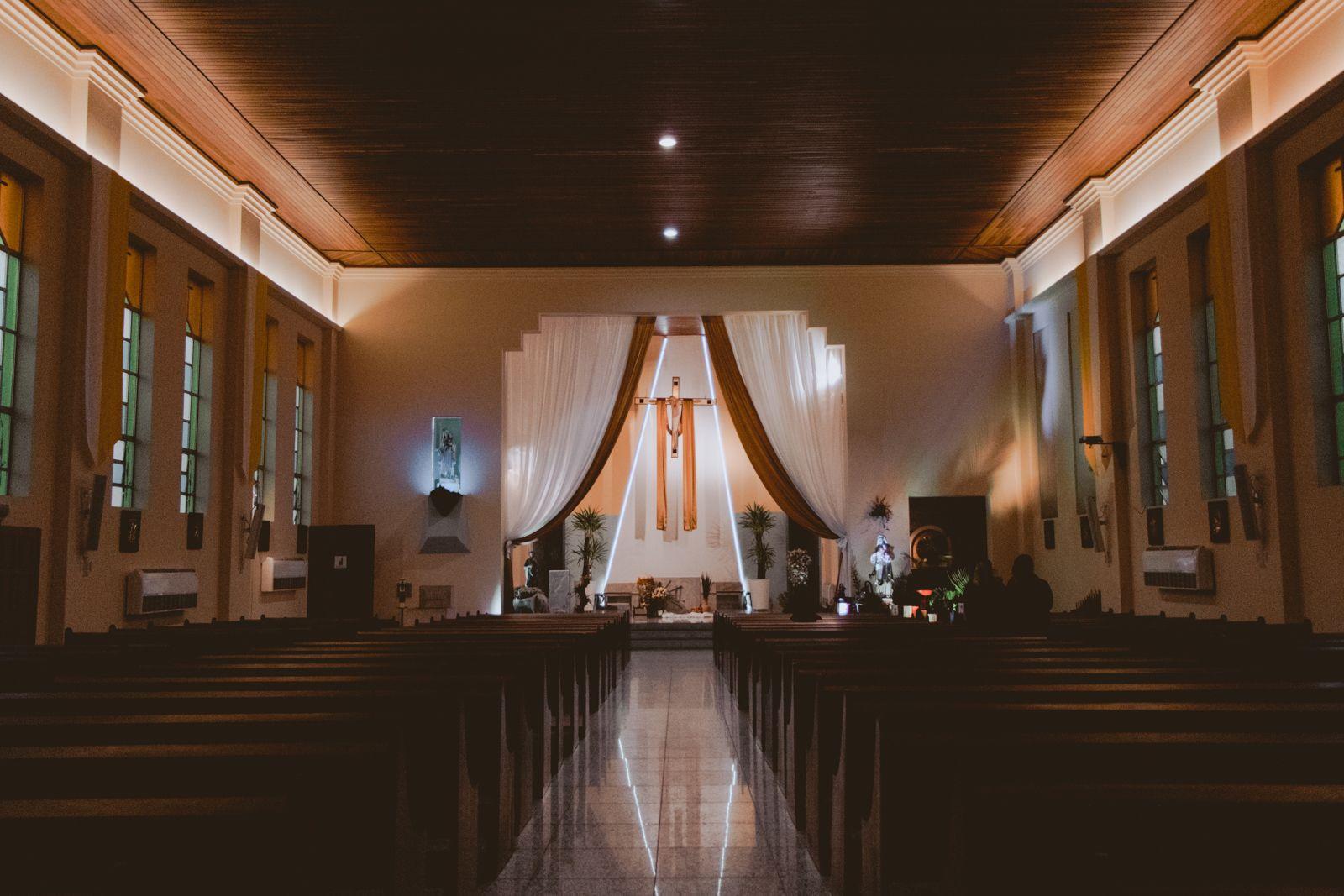 Interior igreja Navegantes - SC