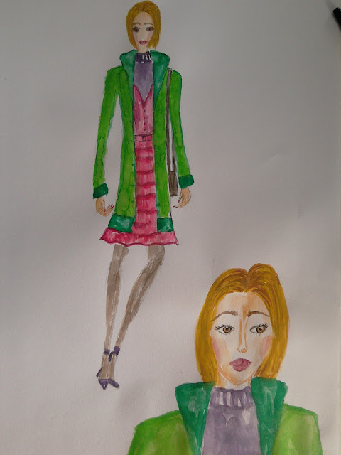 Fashion illustration of the day (trend report: green) #modnailustracija