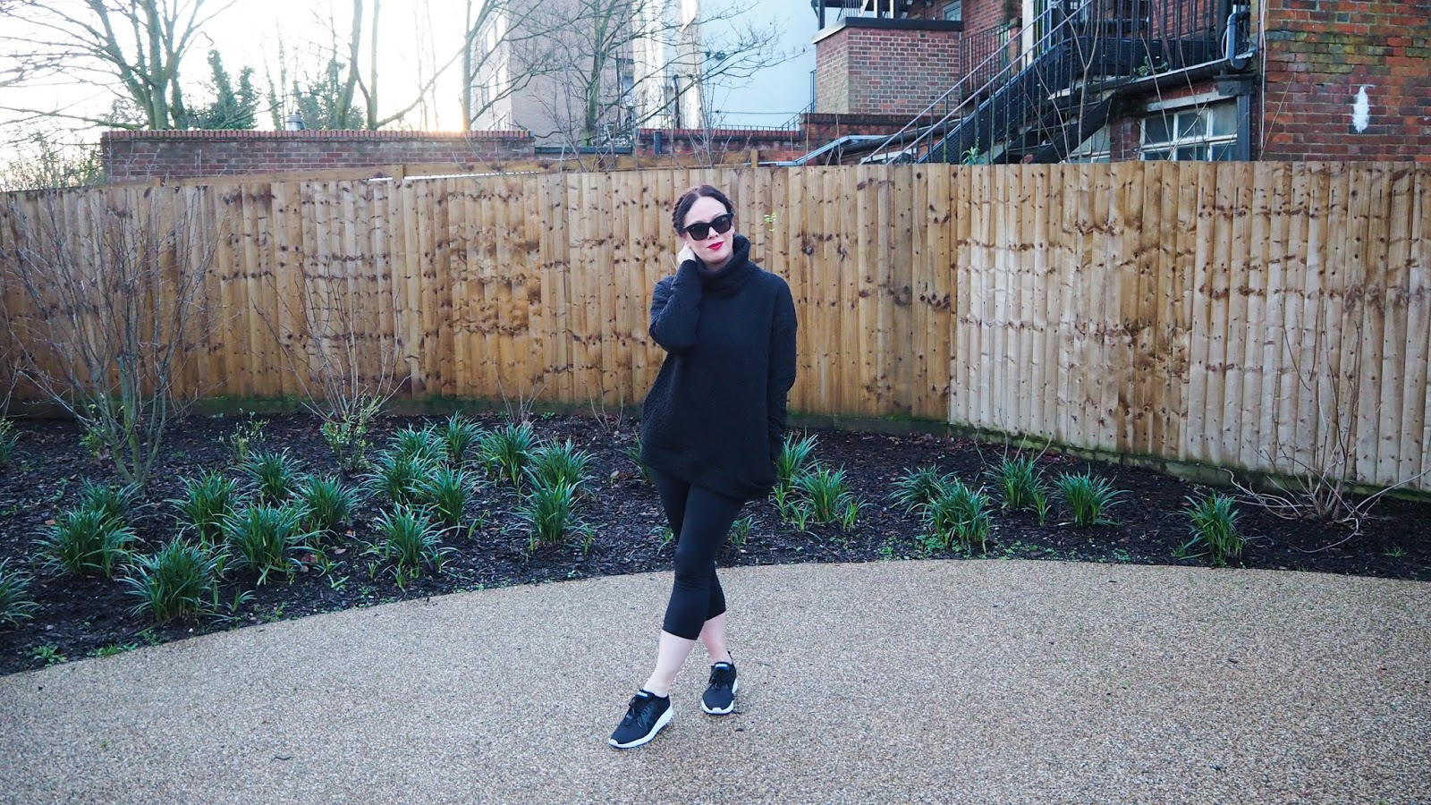 black workout look