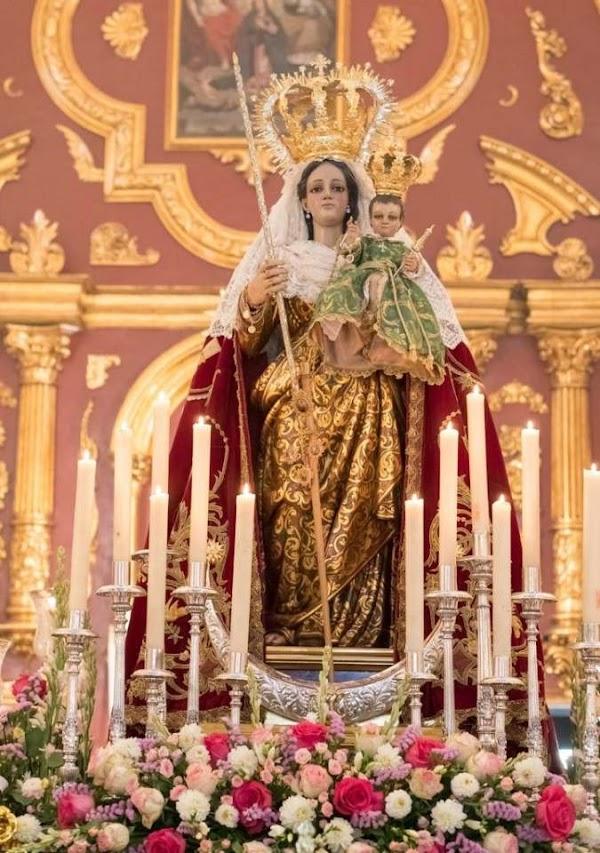 Horario e Itinerario Procesión de la Virgen de la Candelaria, patrona de Colmenar, al presidir un altar para el Corpus de Málaga