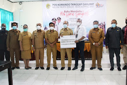 Jefirstson Riwu Kore Terima Sumbangan ke Korban Badai Seroja dari Berbagai Pihak di Kota Kupang