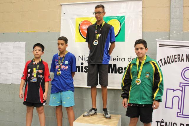 Atletas da ARTEME participam da V Etapa da Liga Nipo Brasileira de Tênis de Mesa