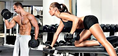 Remo mancuerna martillo bíceps hombre mujer