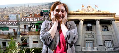 Okupas, ilegales, Ada colau, Barcelona, En Común, Podemos