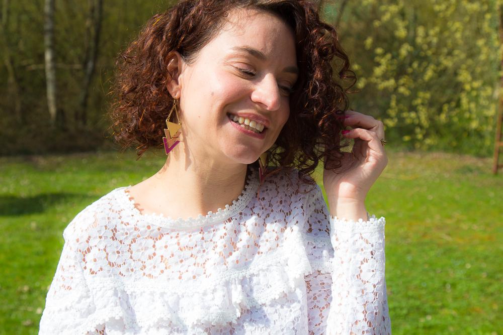 look - jaune - dentelle - printemps - mode