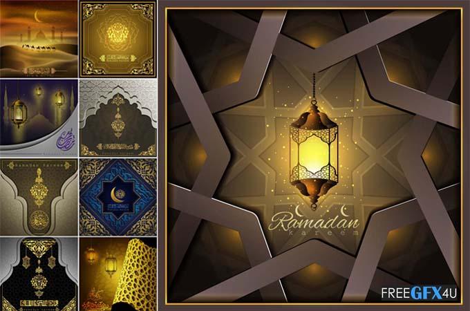 New Vector Background Ramadan Kareem