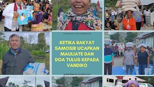Video: Ketika Rakyat Samosir Ucapkan Mauliate dan Doakan Vandiko Gultom