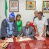 Breaking: Governor Obaseki signs CDA Bill into law, meets with Oba Ewuare II [photos]