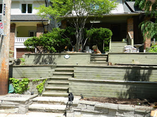 The Beach Toronto Front Tiered Garden Before by Paul Jung Gardening Services--a Toronto Gardening Company