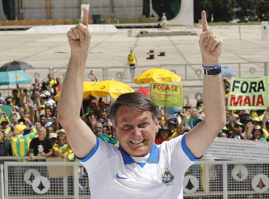 """""""Temos o povo ao nosso lado e temos as Forças Armadas ao lado do povo"""", diz Bolsonaro"""