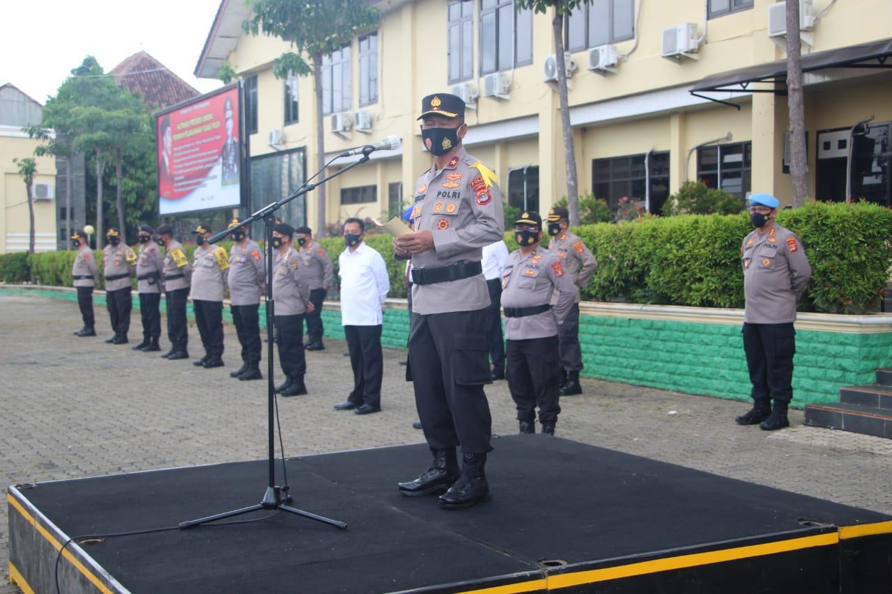 Wakapolda Lampung Brigjend Pol Drs Subiyanto pimpin pelaksanaan  Pergerseran pasukan