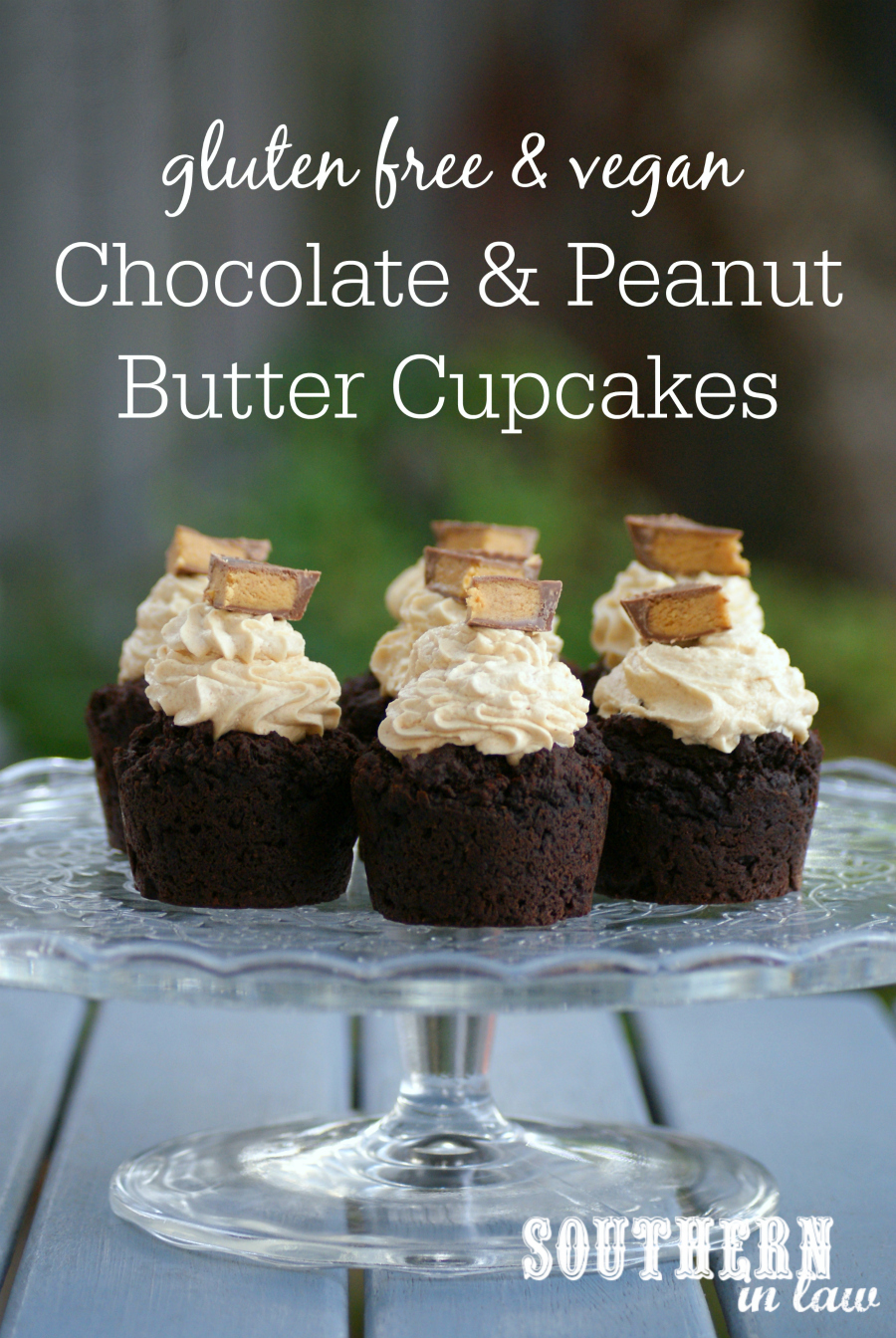 Southern In Law Recipe Chocolate And Peanut Butter Cupcakes Vegan