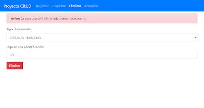 Eliminar registros en PHP