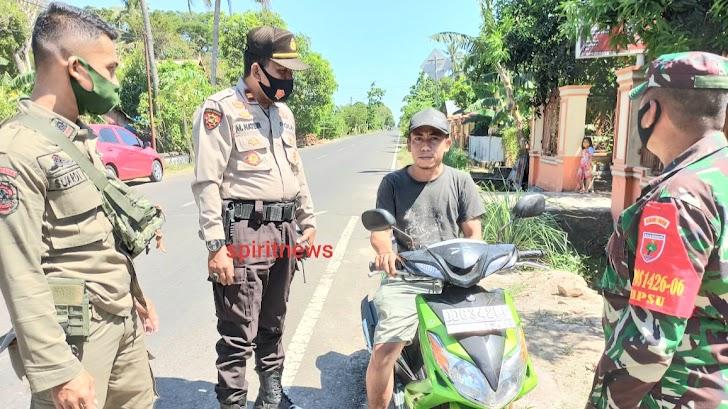 Personil Polsek Mappakasunggu Laksanakan Operasi Yustisi Di Hari Ke Tiga Tentang Penggunaan Masker