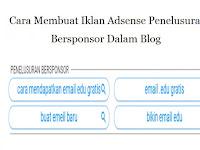 Cara Membuat Iklan Adsense Penelusuran Bersponsor Dalam Blog