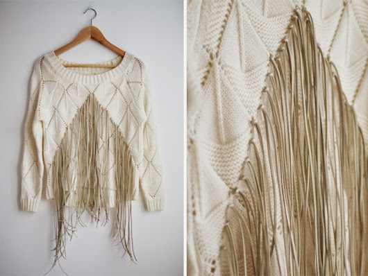 How to Make Leather Fringe Knit
