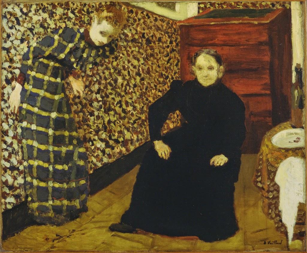 Édouard Vuillard, Interior con la madre y la hermana del artista