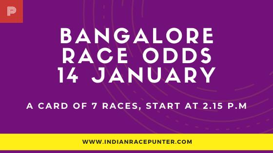 Bangalore Race Odds 14  February, Race Odds,