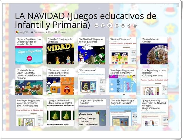 """""""15 juegos educativos de Navidad para Infantil y Primaria"""""""
