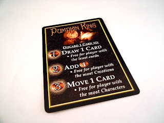 The rules card for the Pumpkin King from The Nightmare Before Christmas TCG.