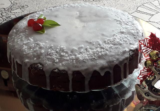 Torta negra portuguesa de Navidad