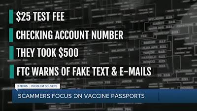 COVID passport scam