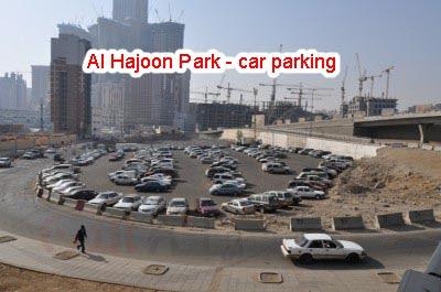 Al Hajoon Park - car parking