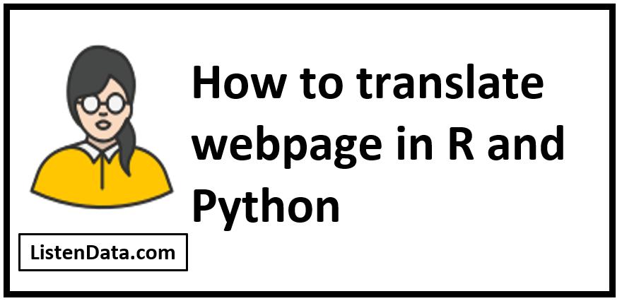 Translate webpage
