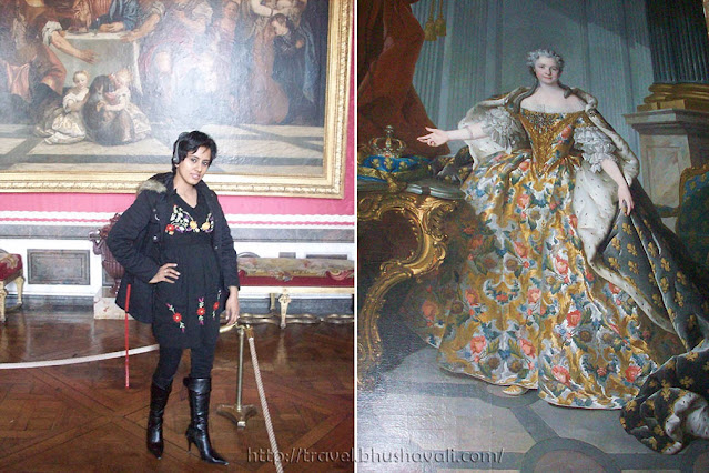 Palace of Versailles Queen Marie Lenzezinska painting in Mercury Drawing Room of King's State Apartment