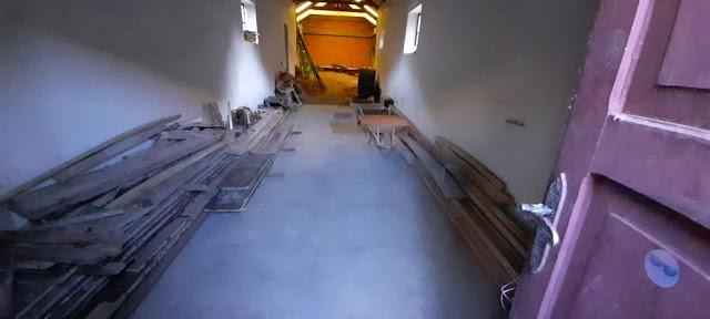 Es sieht doch super aufgeräumt aus die Baustelle der Kapelle in Zapatera Bolivien