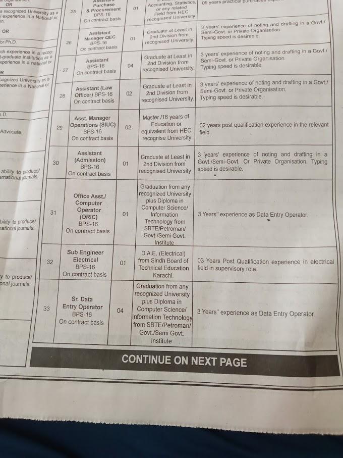 Jobs in Shaheed Zulfiqar Ali Bhutto University of Law (SZABUL)