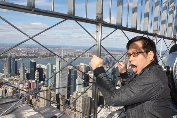 Sir Glen at Empire State Building
