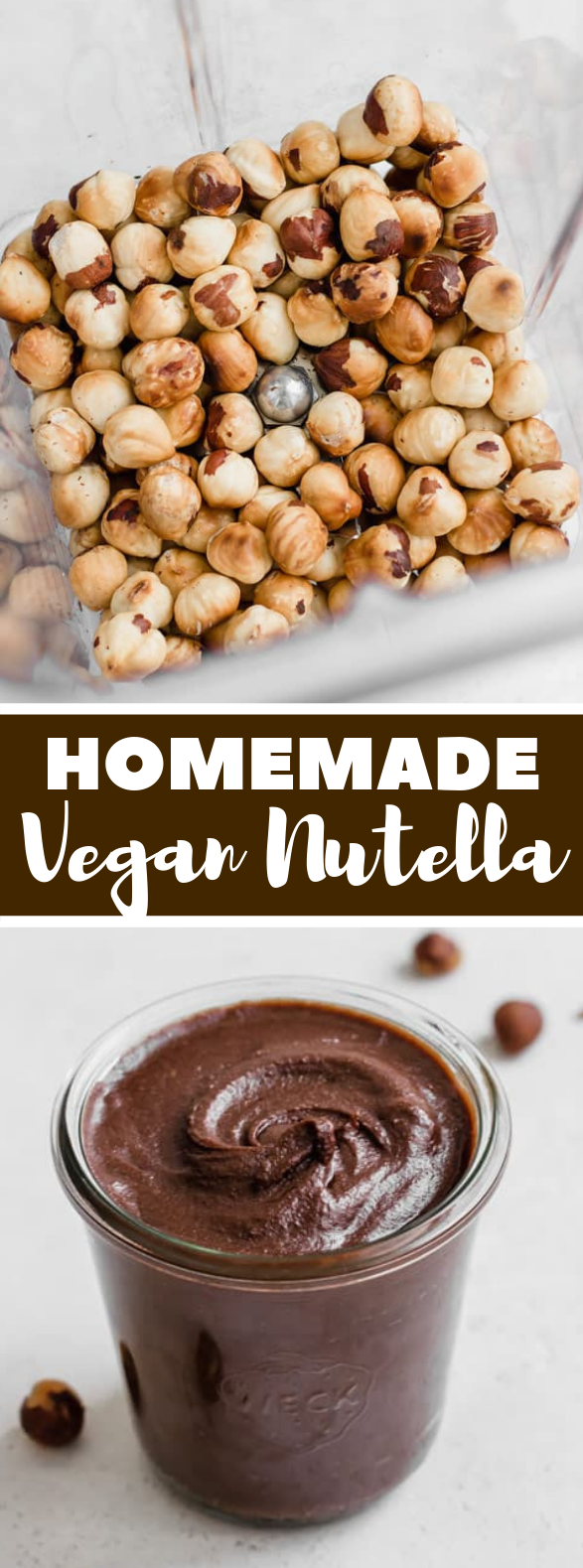 HOMEMADE VEGAN NUTELLA #veganrecipe #vegannutella