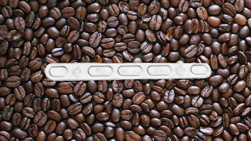 Palheta para mexer o café