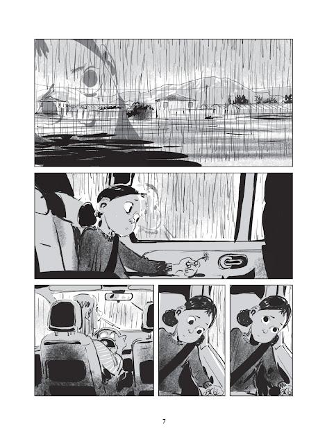 un été sans maman page 7 aux éditions Delcourt collection Shampooing