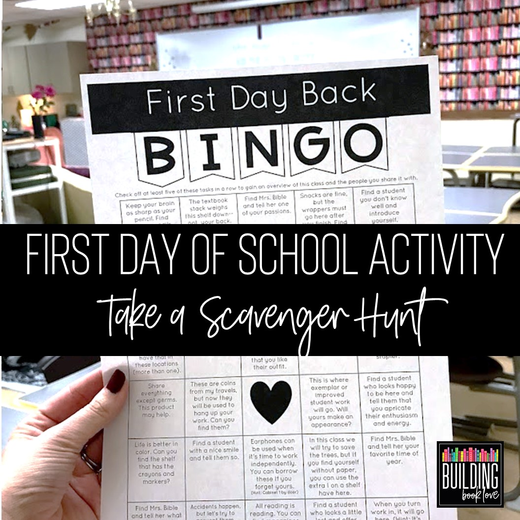 Building Book Love : First Day of School Activities for High