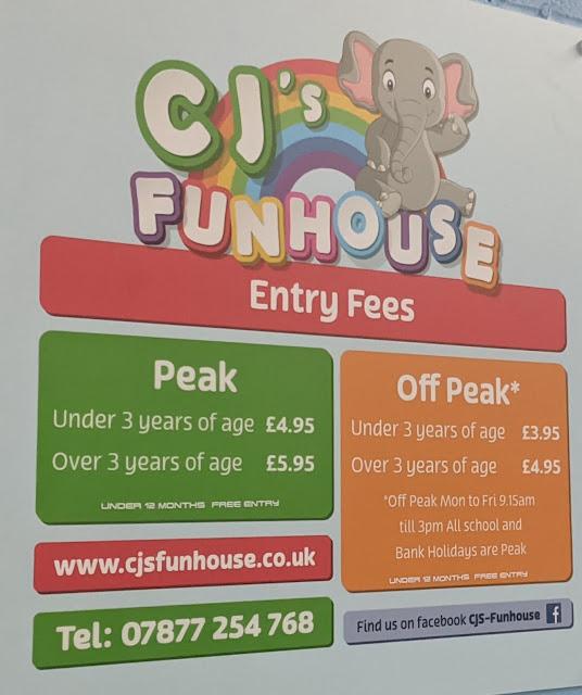 CJ's Funhouse   Cramlington Softplay Review - prices
