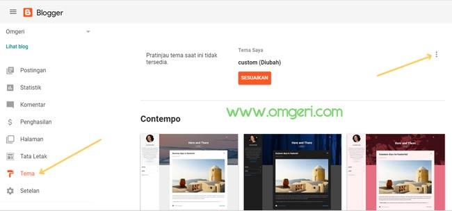 Cara Masuk Ke Menu Editor HTML Dashboard Baru Blogger