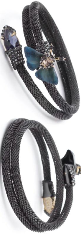 Alexis Bittar Brutalist Butterfly Coil Cuff Bracelet