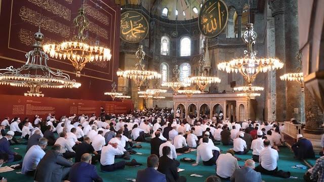 شاهد الفيديو آيا صوفيا تركيا تدين حرق علمها في اليونان وتدعوها لنسيان الحلم البيزنطي