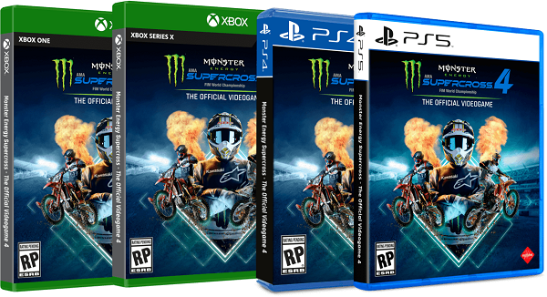 Monster Energy Supercross 4 Game Disc Covers