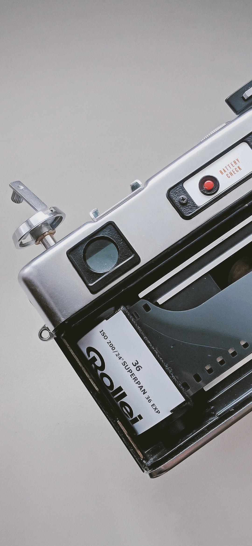 خلفية كاميرا تصوير فوتوغرافي كلاسيكية رمادية