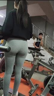 Linda chava gym rica cola calzas deportivas