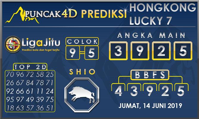 PREDIKSI TOGEL HONGKONG LUCKY7 PUNCAK4D 14 JUNI 2019