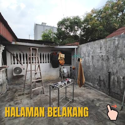 Halaman Belakang Rumah Luas Tanah 456 m2 lokasi sekitar Jalan Ayahanda Medan
