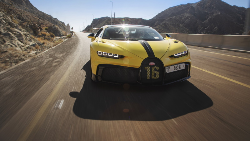 Bugatti Pilote Officiel Andy Wallace tests the most agile member of the Chiron family.