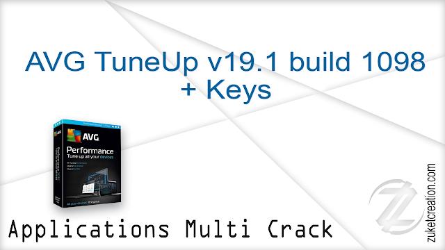 AVG TuneUp v19.1 build 1098 + Keys    |  59 MB