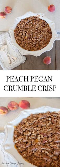 peach pecan crumble crisp recipe
